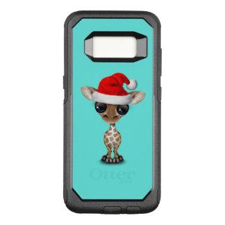 Baby Giraffe Wearing a Santa Hat OtterBox Commuter Samsung Galaxy S8 Case