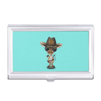 Baby Giraffe Zombie Hunter Business Card Holder