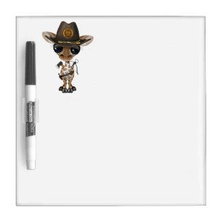 Baby Giraffe Zombie Hunter Dry-Erase Whiteboard