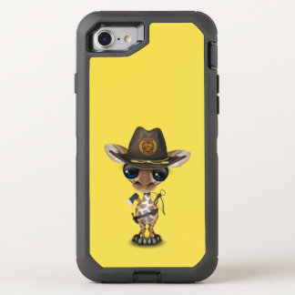 Baby Giraffe Zombie Hunter OtterBox Defender iPhone 8/7 Case