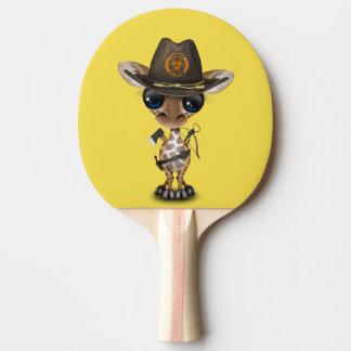 Baby Giraffe Zombie Hunter Ping Pong Paddle
