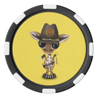 Baby Giraffe Zombie Hunter Poker Chips