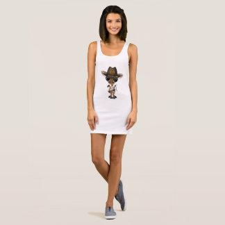 Baby Giraffe Zombie Hunter Sleeveless Dress