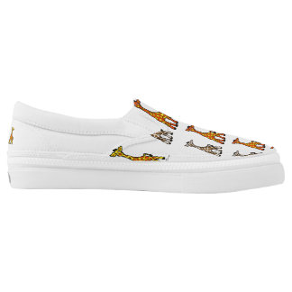 Baby Giraffes In A Row Canvas Slip on Shoes