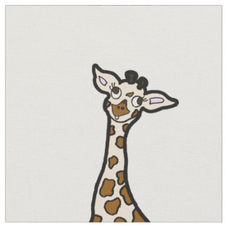 Baby Giraffes In A Row Fabric