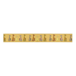 Baby Giraffes In A Row Ribbon Grosgrain Ribbon