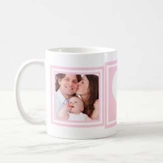 Baby Girl 2 Photos and Heart Coffee Mug