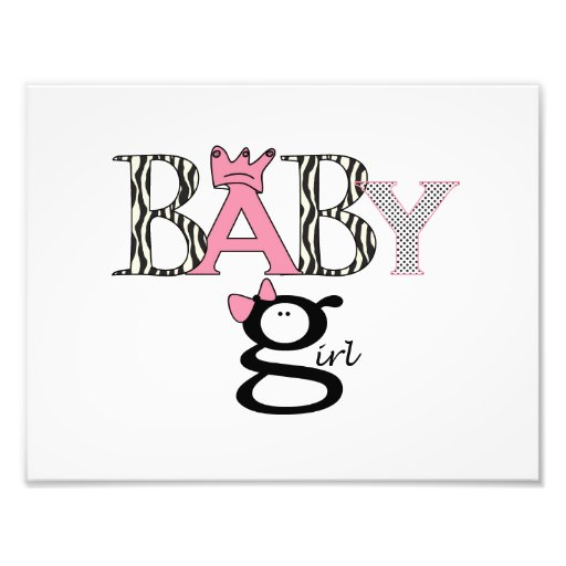 Baby Girl - Announcement - Picture - Wall Hanging Art Photo