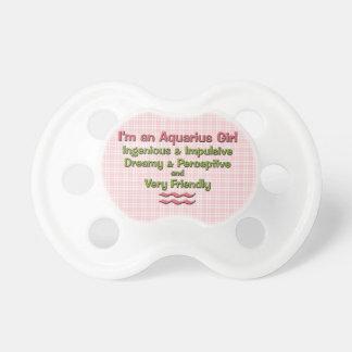 Baby Girl Aquarius Zodiac Personalized Pacifier
