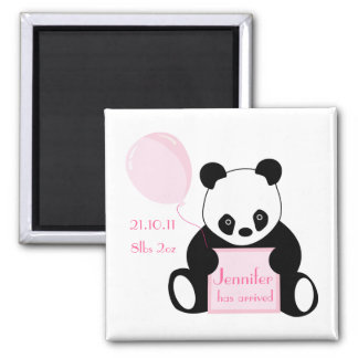Baby girl arrival personalised name magnet