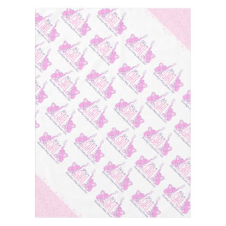 Baby girl baby shower elephant tablecloth