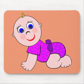 Baby Girl Bald Mouse Pad