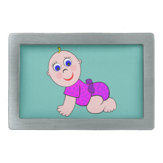 Baby Girl Bald Rectangular Belt Buckle