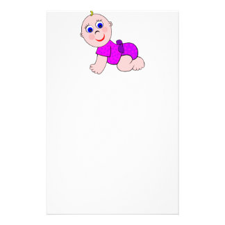 Baby Girl Bald Stationery