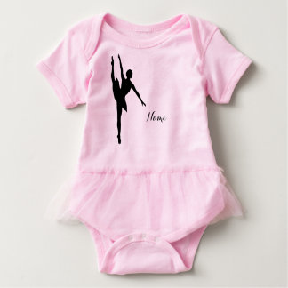 Baby Girl Ballet onsie with ruffles Baby Bodysuit