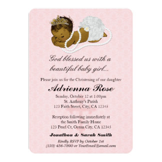 Baby Girl Baptism Christening Invitations PINK 181