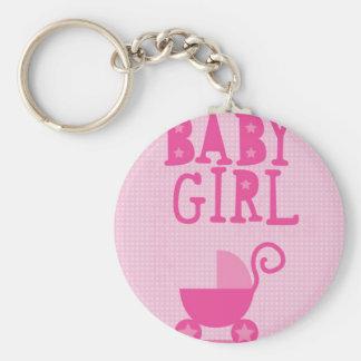 BABY Girl Basic Round Button Key Ring