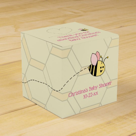 Baby Girl Bee Favour Box