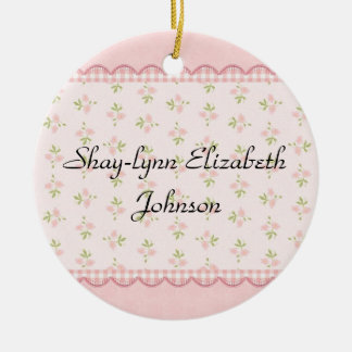 Baby Girl Birth Annoucement Ornament
