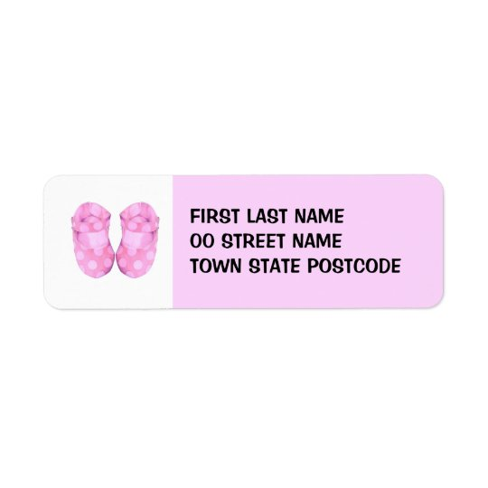 Baby Girl Booties Return Address Label