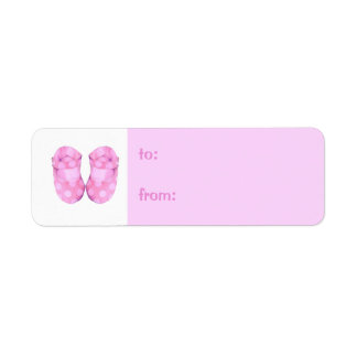 Baby Girl Booties small Gift Tag Label Return Address Label