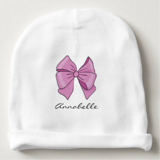 Baby Girl Bow | Personalized Baby Beanie