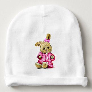 Baby Girl Cap for Newborn Pink Bunny Baby Beanie