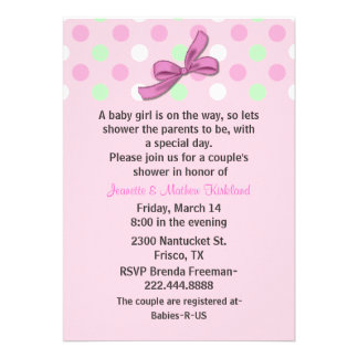 Baby Girl Couple s Baby Shower Invitation