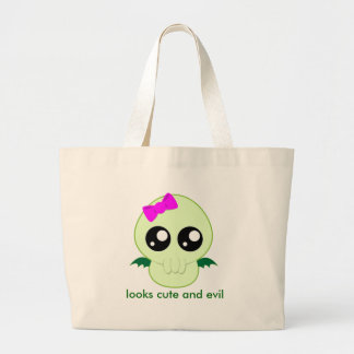 Baby Girl Cthulhu Large Tote Bag