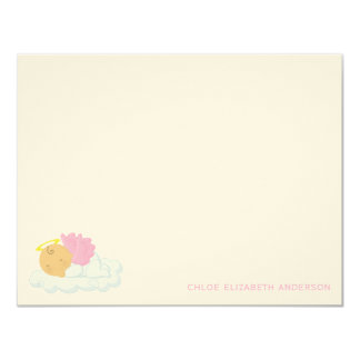 Baby Girl Custom Flat Thank You Notes 11 Cm X 14 Cm Invitation Card