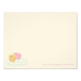 Baby Girl Custom Flat Thank You Notes 11 Cm X 14 Cm Invitation Card