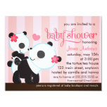 Baby Girl Cute Panda Baby Shower Personalized Announcement