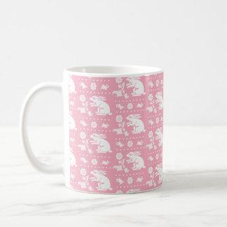 Baby Girl Cute Pink Bunny Rabbits Pattern Coffee Mug