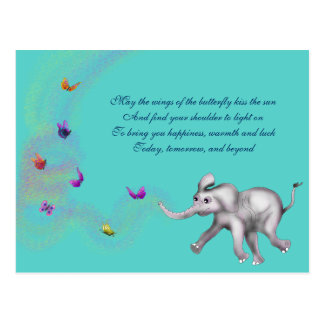 Baby Girl Elephant by The Happy Juul Company Postcard