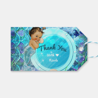 Baby Girl Enchanted Mermaid Baby Shower Party Gift Tags