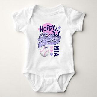 Baby Girl Father's Day Baseball Shirt