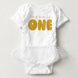Baby Girl First Birthday Outfit Golden One Baby Bodysuit