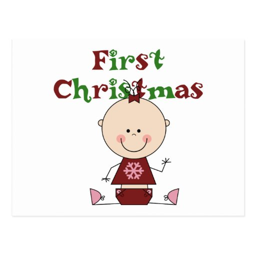 Baby Girl First Christmas T-shirts and Gifts Postcard