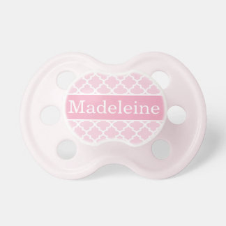 Baby Girl First Name | Pink Patterned Dummy