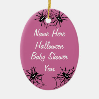 Baby Girl Halloween Baby Shower Spider Ornaments