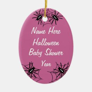 Baby Girl Halloween Baby Shower Spider Ornaments