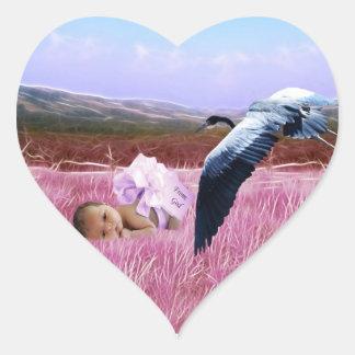 Baby Girl heart Heart Sticker