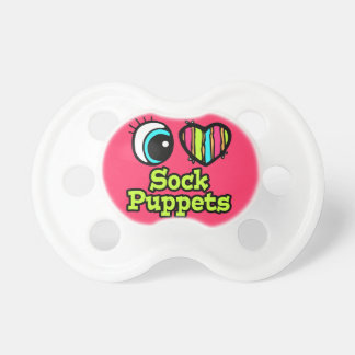 baby girl i love eye heart sock puppets baby pacifiers