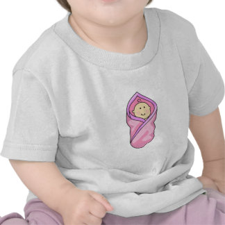BABY GIRL IN BLANKET TSHIRT