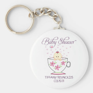 Baby Girl in Tea Cup Keychain