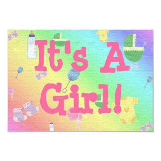 BABY GIRL PERSONALIZED INVITE