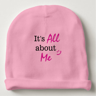 Baby Girl It's All About Me Beanie Baby Beanie