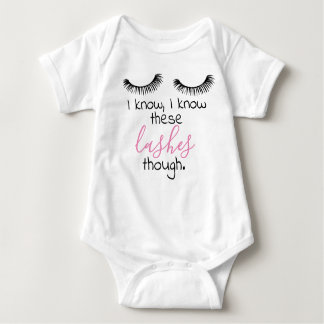 baby girl lashes baby bodysuit