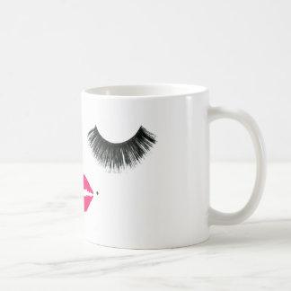 baby girl lashes basic white mug
