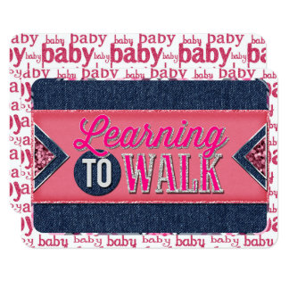 Baby Girl Learning To Walk JOURNAL CARD